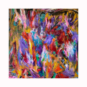 """Candy"" is an abstract expressionist painting by Texas artist Robert ""Bob"" Lombardi 