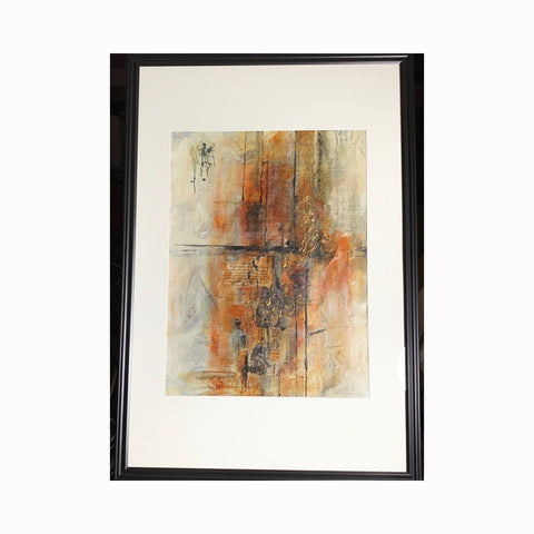 """Dearest Mom & Dad"" is an abstract mixed media painting by Texas artist Sharon Whisnand 