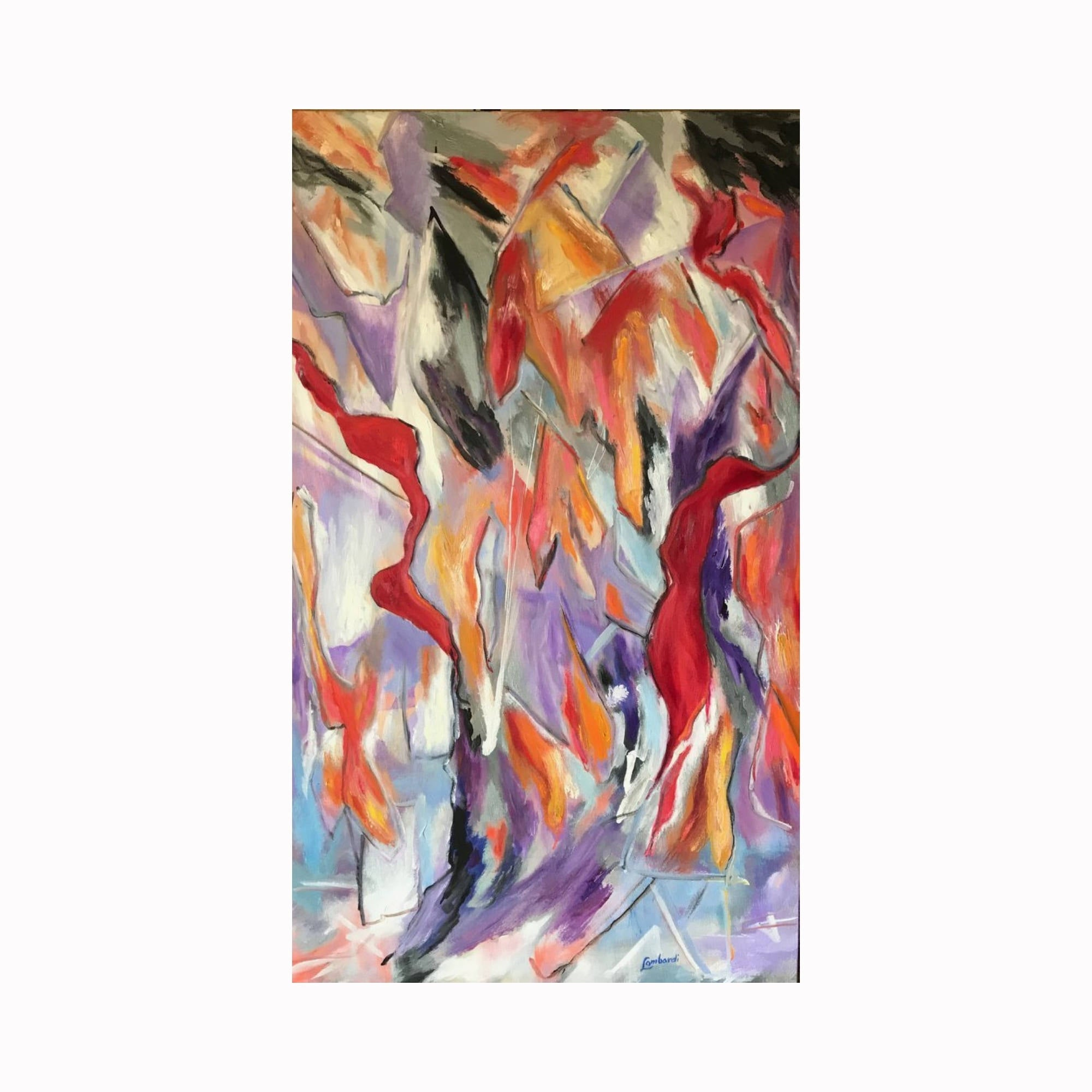 """Intrusion"" is an abstract expressionist painting by Texas artist Robert ""Bob"" Lombardi 