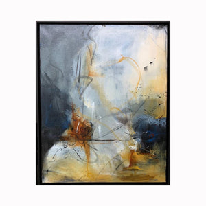 """Lighten Up"" abstract art painting by Texas artist Sharon Whisnand 
