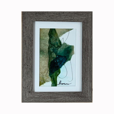 """Love"" is a mixed media abstract painting by Texas artist Sharon Whisnand 