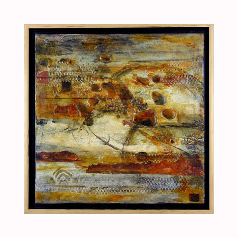 """Metanoia"" is a mixed media abstract painting by Texas artist Sharon Whisnand 