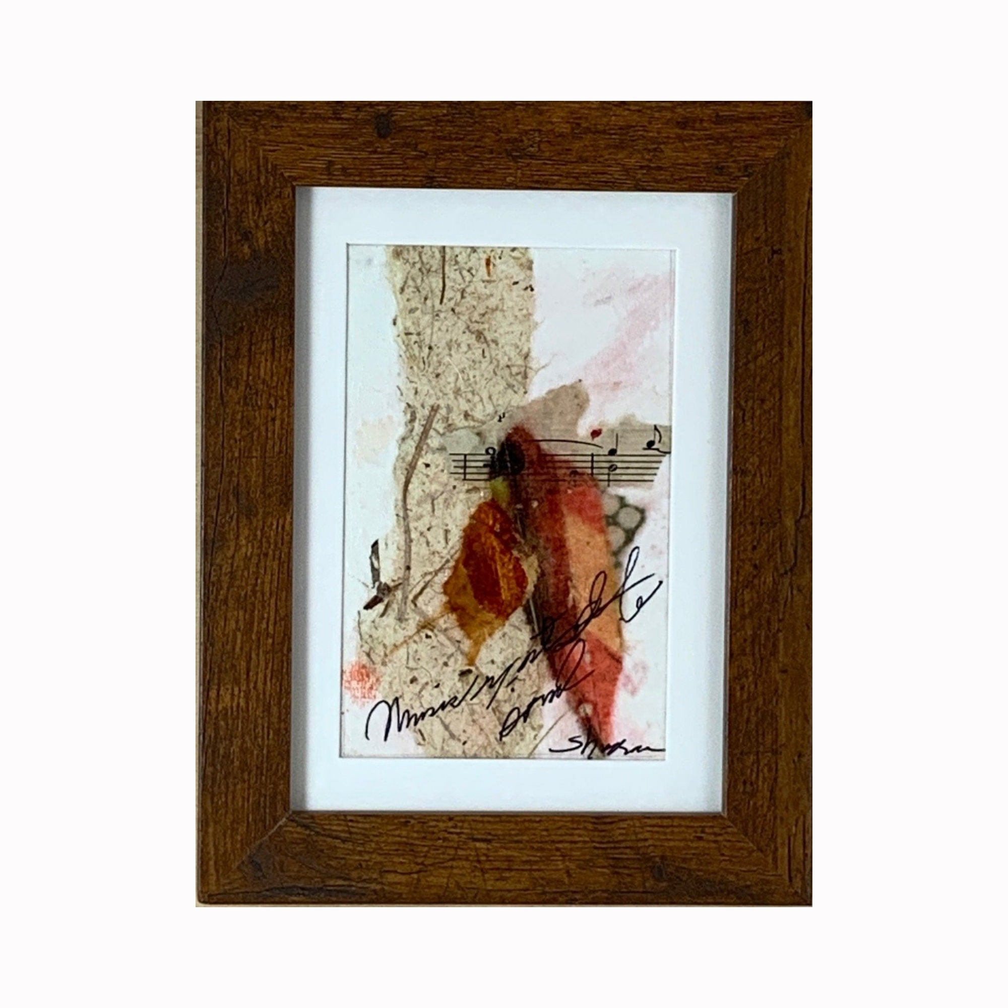 """Music"" is a mixed media abstract painting by Texas artist Sharon Whisnand 