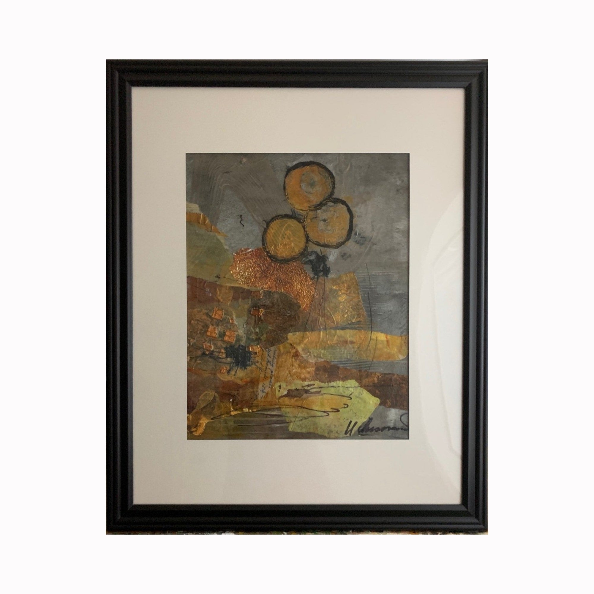 """Outlook"" is a mixed media abstract painting by Texas artist Sharon Whisnand 
