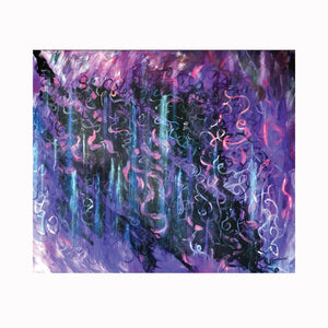 """Sing"" is an abstract expressionist painting by Texas artist Robert ""Bob"" Lombardi 