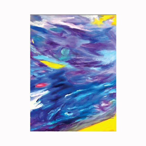 """Storm"" is an abstract expressionist painting by Texas artist Robert ""Bob"" Lombardi 