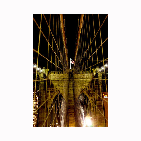 """Brooklyn Bridge at Night"" 