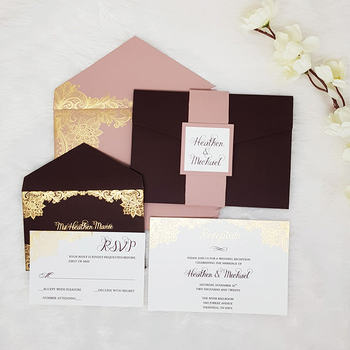 Pocket Wedding Invitations Suite | Affordable Wedding Invites