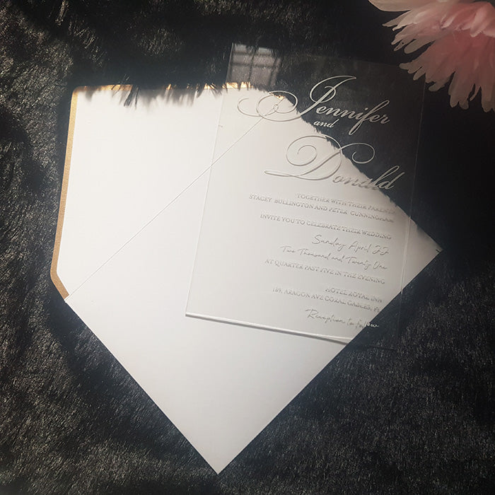 Clear Wedding Invitations, White Ink, White Wedding Invites