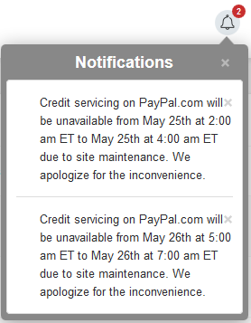 Paypal Maintenance Scheduled
