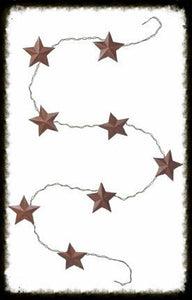 1.5in Rustic Tin 3D Star Garland - Especially For You Home Decor