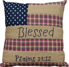 Americana Blessed Pillow
