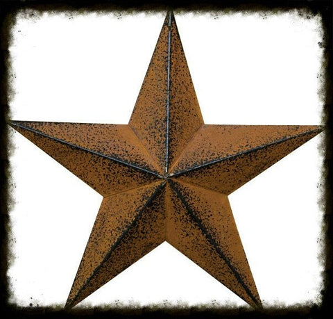 Rusty Black Barn Star - Especially For You Home Decor