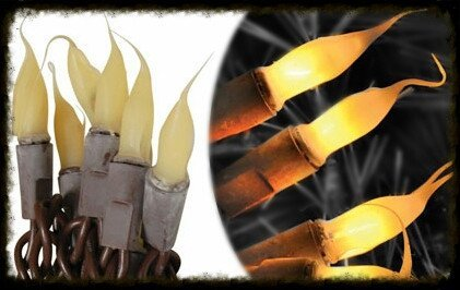 Silicone Tip ~ Brown Wire Lights - Especially For You Home Decor
