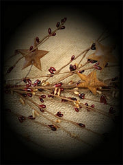 Burgundy_and_Tan Rusty Star Garland