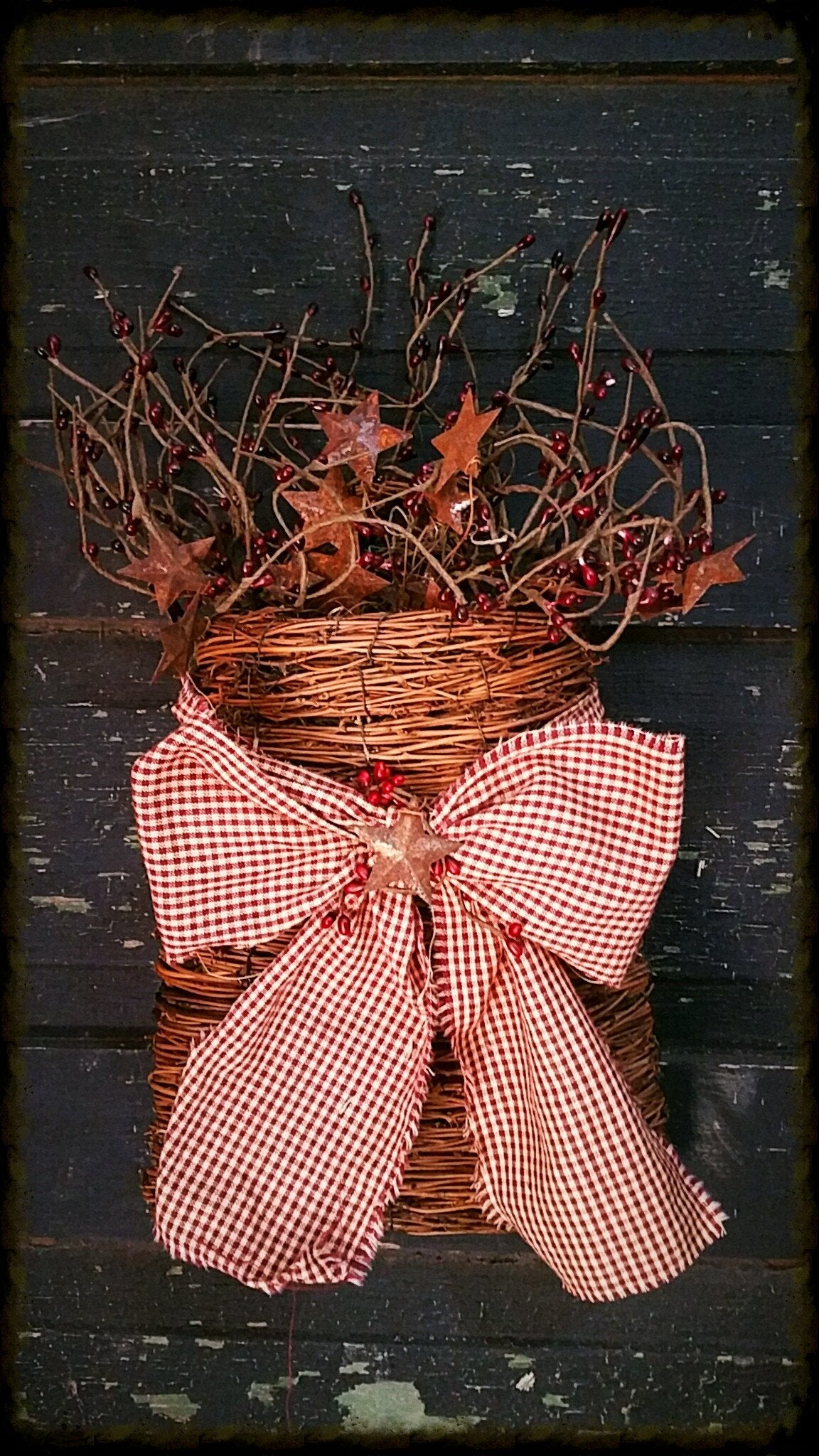Decorated Vine Wall Basket - Especially For You Home Decor