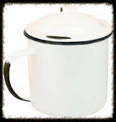 Enamelware Mug with Lid - Especially For You Home Decor