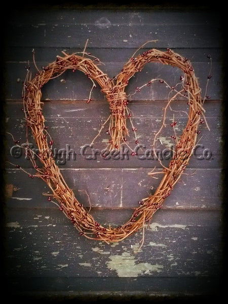 Grapevine Heart with Burgundy Pip Berries