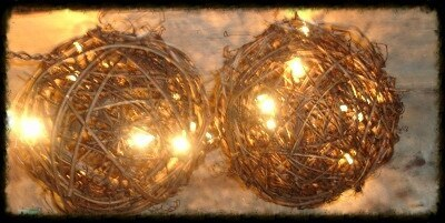 Lighted Grapevine Twig Balls - Especially For You Home Decor