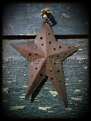 Large Rusty Prim Folk Star