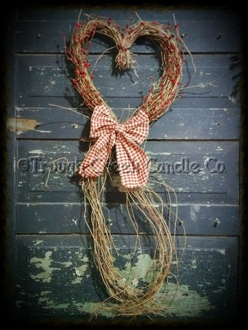 Grapevine Twig Heart w/ Berries & Bow