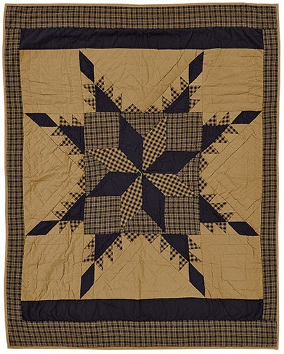 Navy Star Quilted Throw - Especially For You Home Decor