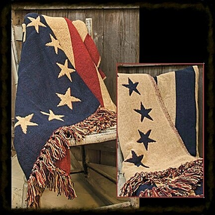 Old Glory Woven Throw - Especially For You Home Decor