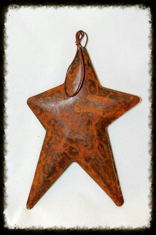 Rusty Primitive Puffy Star Ornament - Especially For You Home Decor