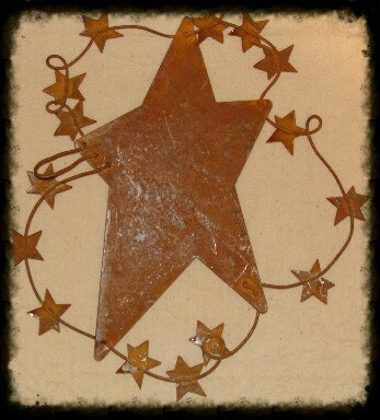 Lg Rusty Country Stars Ornament - Especially For You Home Decor
