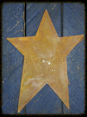 Rusty Folk Star for 24 inch Painted Lath Flag - Especially For You Home Decor