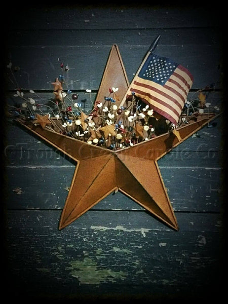 Rusty Tin Star Pocket with Pip Berries - Especially For You Home Decor