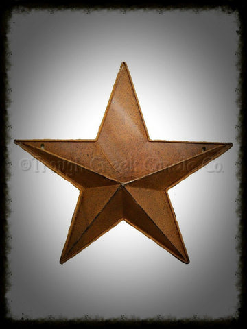 Rustic Tin Hanging Star with Pocket