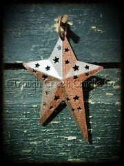 Rusty Primitive Folk Star Ornament
