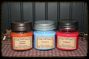 100% Soy Small Square Mason Jar Candle ~Wholesale