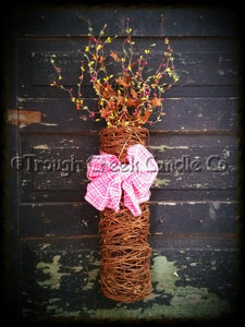 Decorated Twig Long Wall Basket
