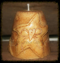 Primitive Star and Crow All Natural Soy Pillar Candle