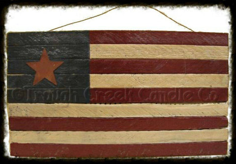 Large Tobacco Lath Flag Painted
