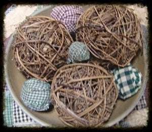 Homespun Rag Balls ~Various Sizes - Especially For You Home Decor