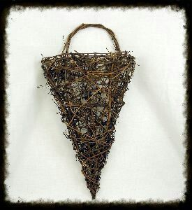 Twig Cone Wall Basket - Especially For You Home Decor