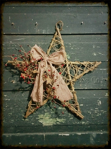 Twig Mesh Star Decorated - Especially For You Home Decor
