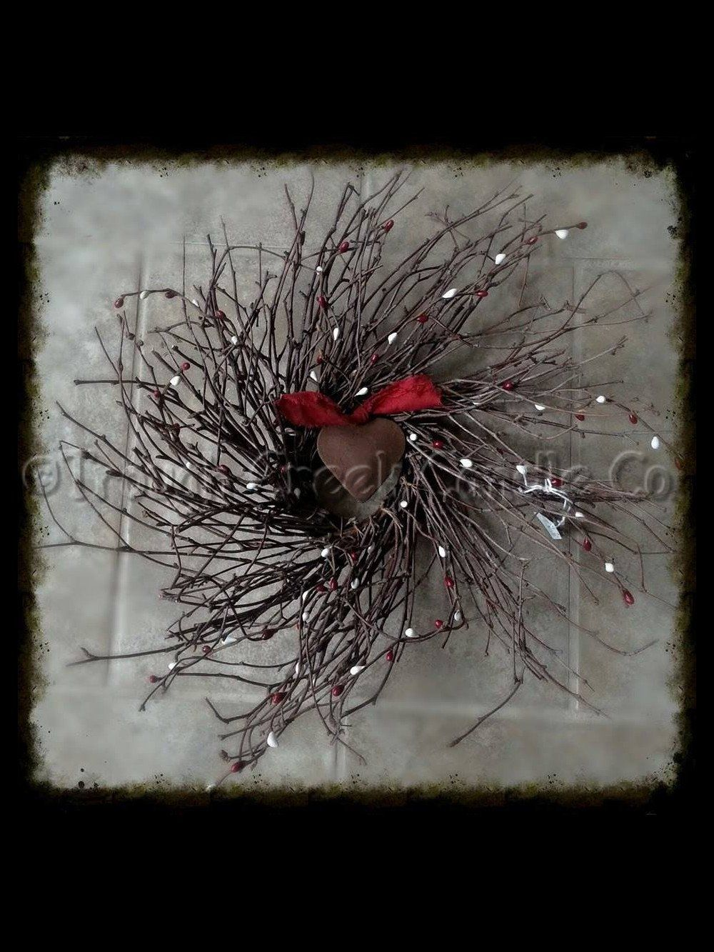 Twig Wreath with Heart