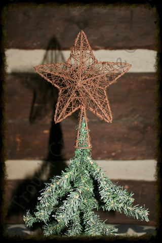 Rusty Wire Mesh Tree Topper - Especially For You Home Decor