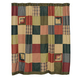 Tea Cabin Shower Curtain Patchwork 72x72