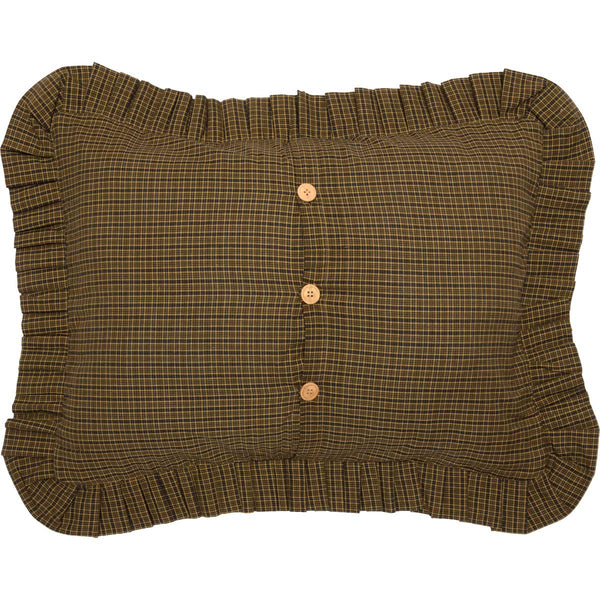 Tea Cabin-Sham Standard Quilted Ruffled-Especially For You Home Décor