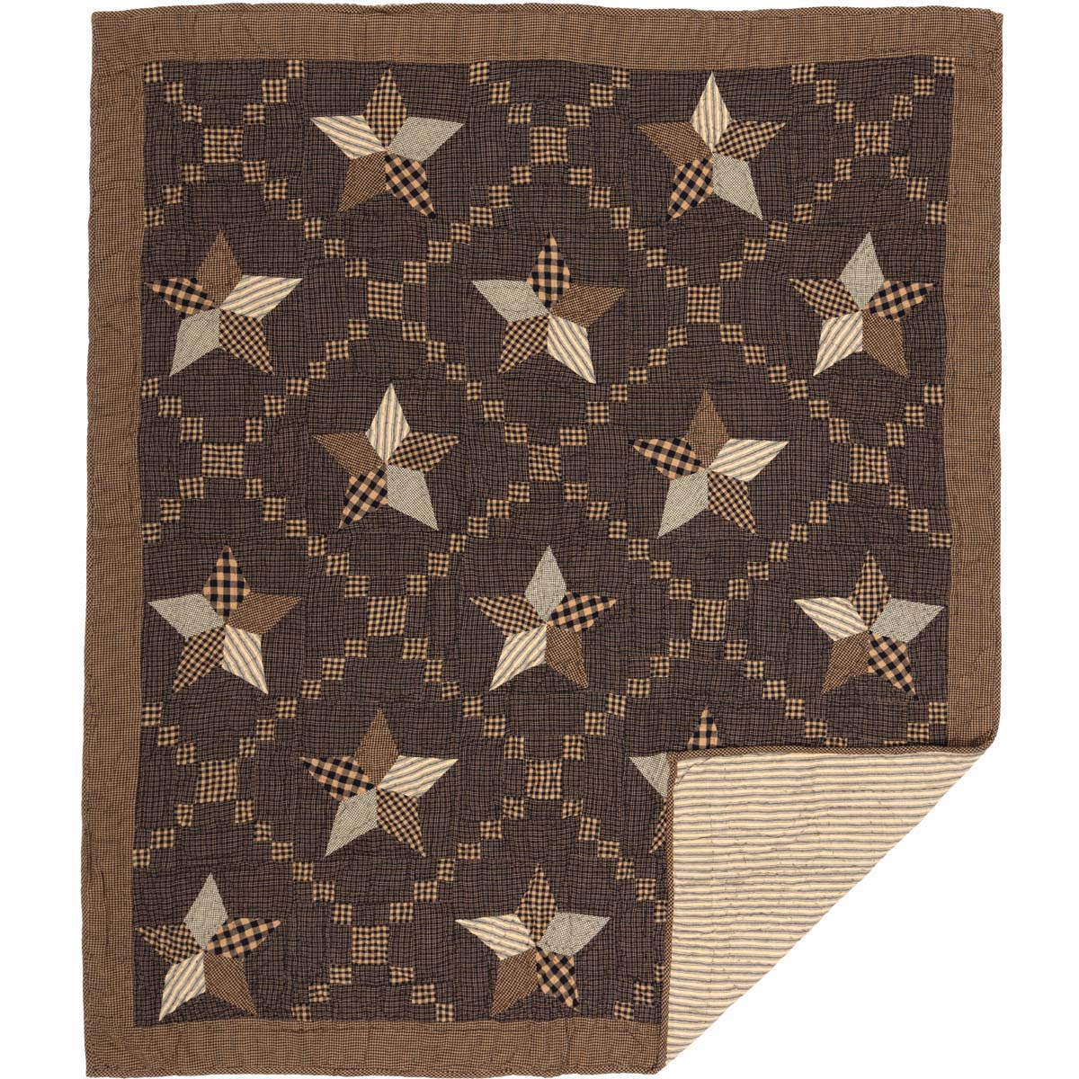 Farmhouse Star Quilted Throw 60x50