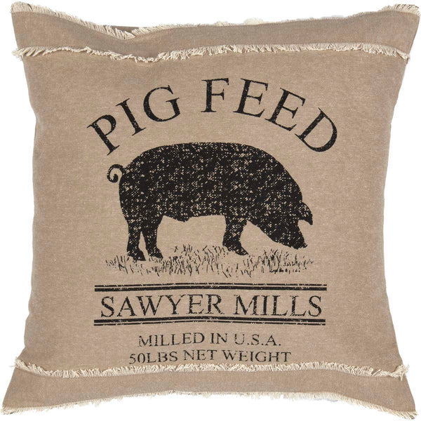 Sawyer Mill Charcoal-Pillow Filled Fabric 18x18-Especially For You Home Décor