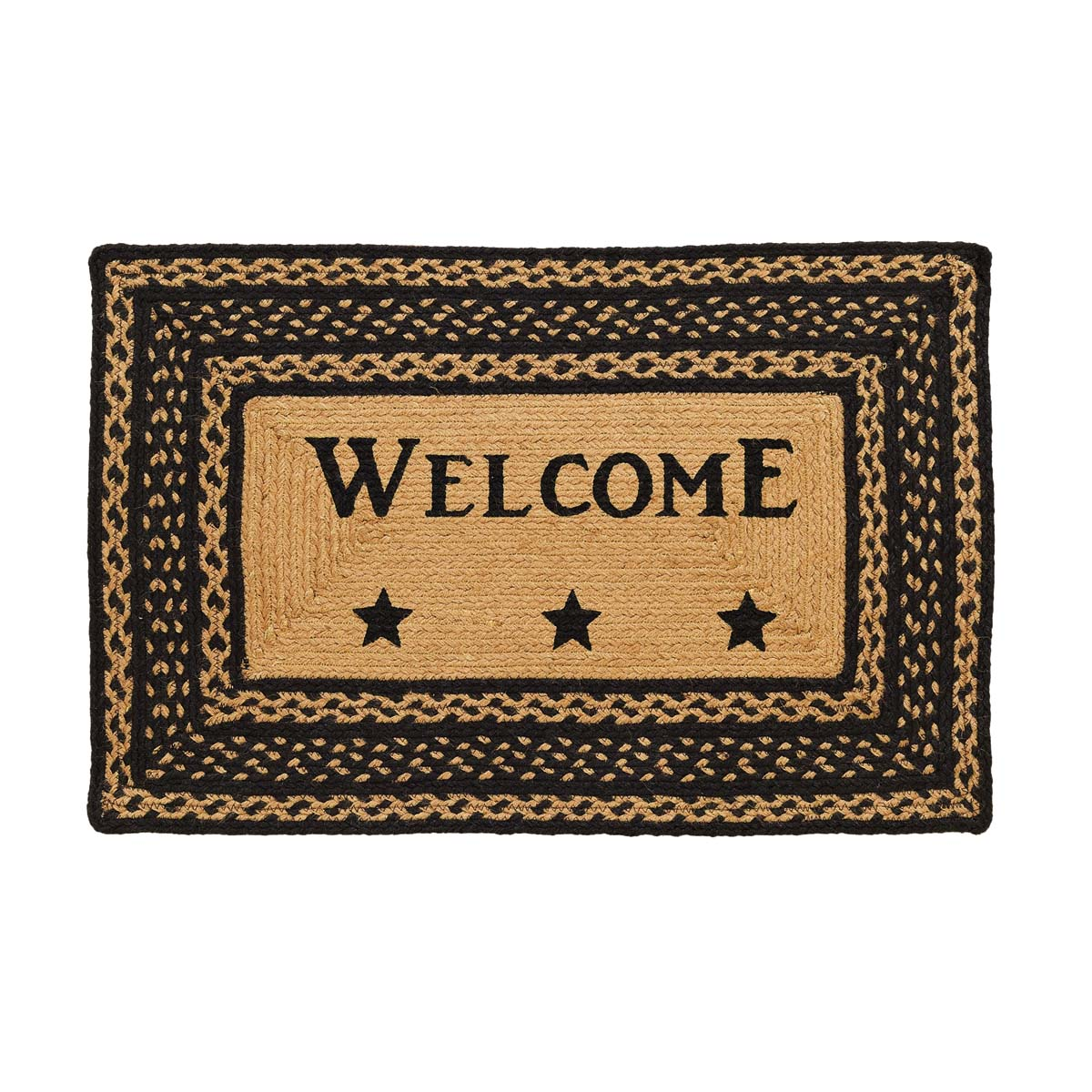 Farmhouse Jute Welcome Stenciled Rug