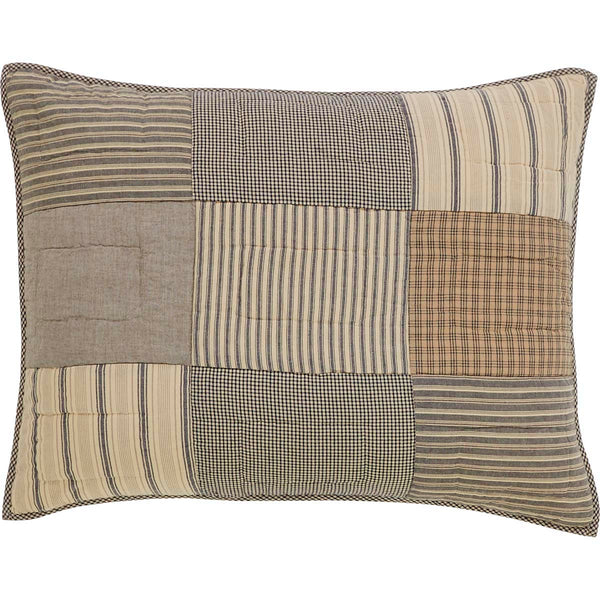 Sawyer Mill Charcoal-Sham Standard Quilted-Especially For You Home Décor