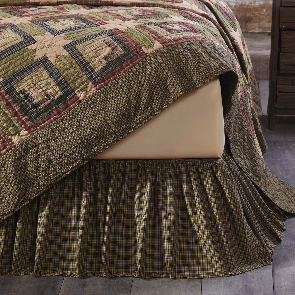 Tea Cabin-Bed Skirt Queen-Especially For You Home Décor