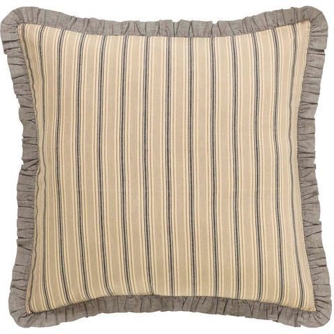 Sawyer Mill Charcoal-Euro Sham Fabric Ruffled-Especially For You Home Décor